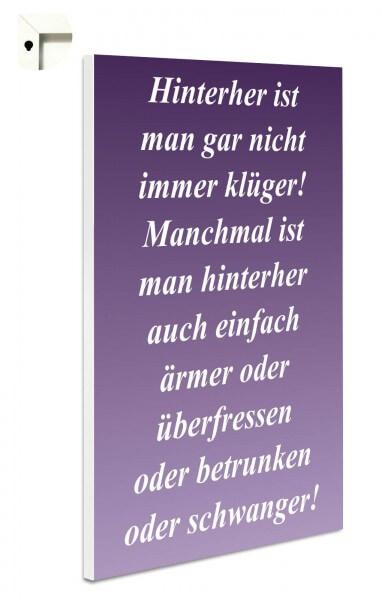 "Magnettafel Pinnwand ""Hinterher ...in lila"""