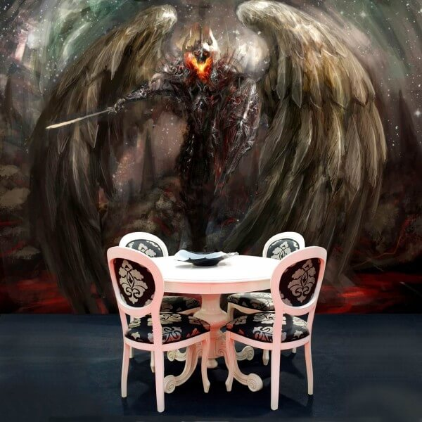 Vlies Tapete Poster Fototapete Fantasy Dunkle Macht Krieger