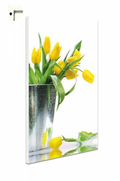 Magnettafel Pinnwand Blumen Natur Gelbe Tulpen