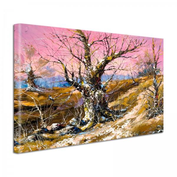 Leinwandbild Gemälde Baum im Winter
