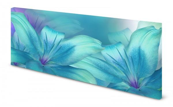 Magnettafel Pinnwand Bild Blumenmuster Aqua Aquamarine gekantet