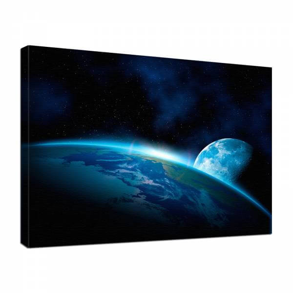 Leinwand Bild edel Fantasy Science Fiction Planet Erde