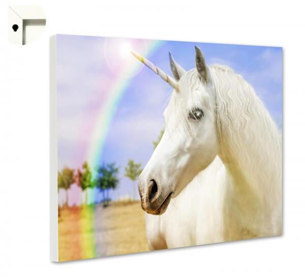 Magnettafel Pinnwand Memoboard Tiere Einhorn Regenbogen
