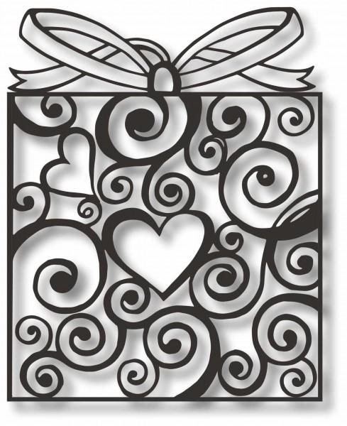Bild Wandbild 3D Wandtattoo Acryl Mobile Herz Muster Schleife Abstrakt