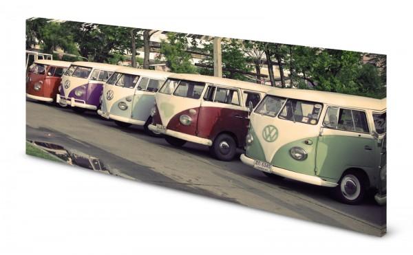 Magnettafel Pinnwand Bild Bus Bulli Oldtimer