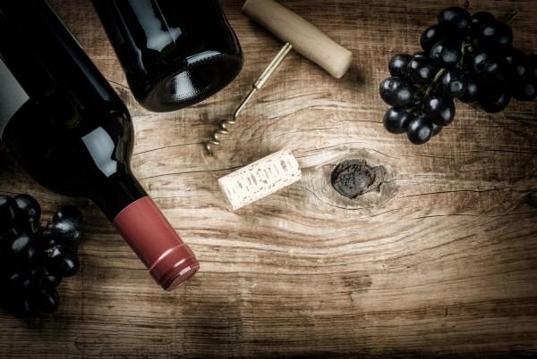Magnettafel Pinnwand XXL Bild Holz Rotwein Weintrauben