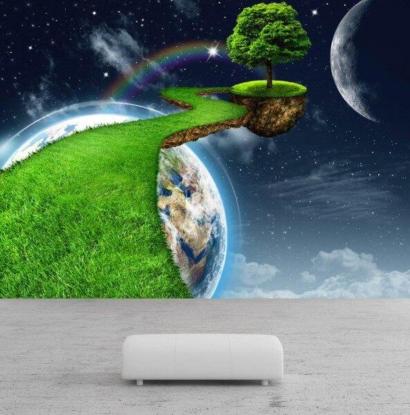 Vlies Tapete Poster Fototapete Erde Umwelt Universum Planet