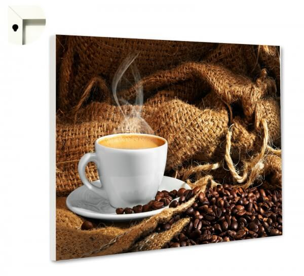 Magnettafel Pinnwand mit Motiv Küche Kaffee & Bohnen