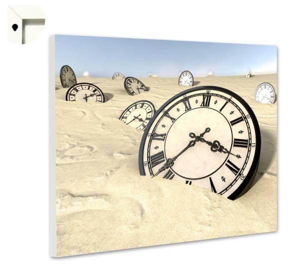 Magnettafel Pinnwand Uhren im Sand