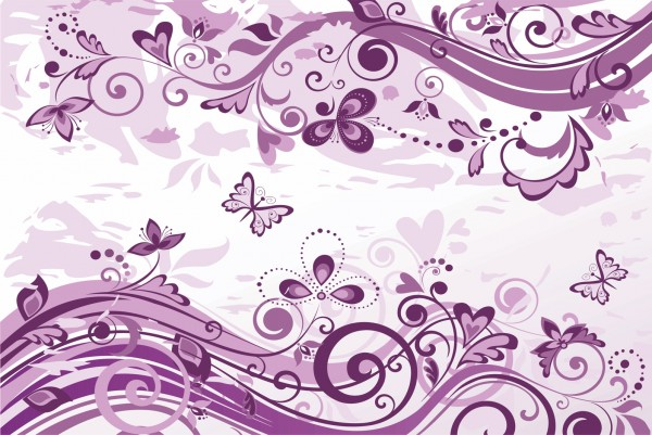 Magnettafel Pinnwand XXL Bild Muster lila Schmetterlinge Blumen