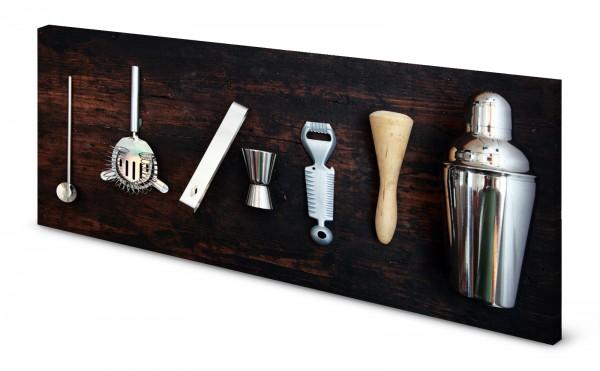 Magnettafel Pinnwand Bild Bar Cocktailbar Mixer gekantet