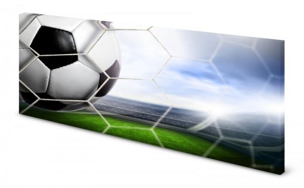 Magnettafel Pinnwand Bild Fussball Tor Fussbalstadion gekantet