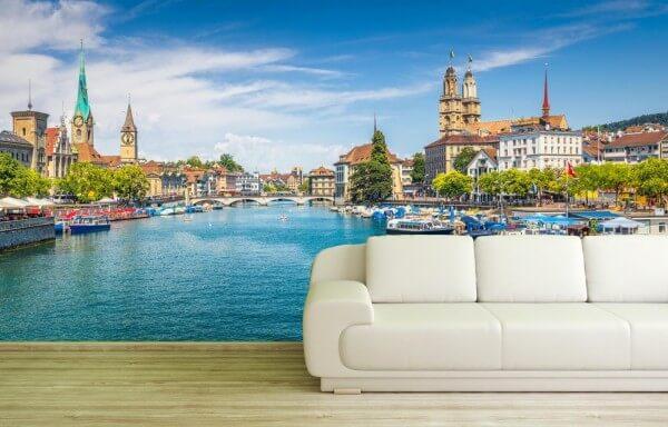 Vlies Tapete XXL Poster Fototapete Zürich Schweiz