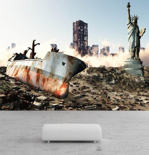 Vlies Tapete Poster Fototapete Science-Fiction USA Endzeit