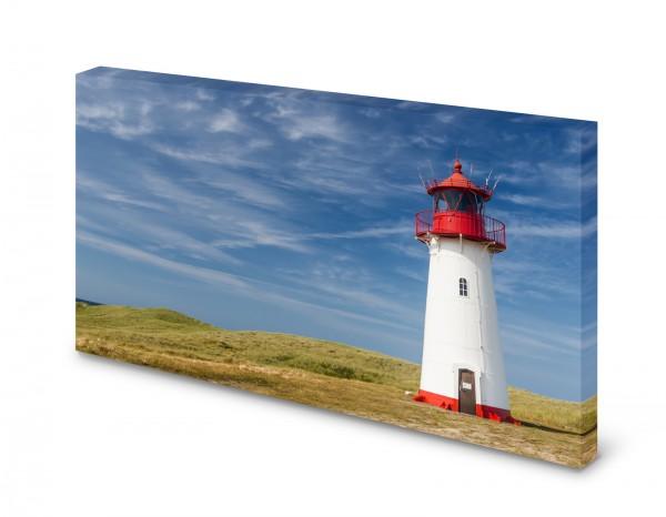 Magnettafel Pinnwand Bild Leuchtturm Natur Düne Horizont gekantet