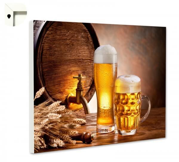 Magnettafel Pinnwand Küche Bier im Fass, Prost!