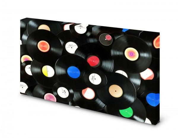 Magnettafel Pinnwand Bild Schallplatten Platten Vinyl XXL gekantet
