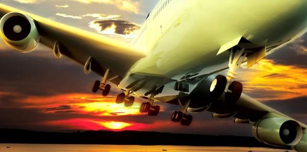 Magnettafel Pinnwand Bild XXL Panorama Flugzeug