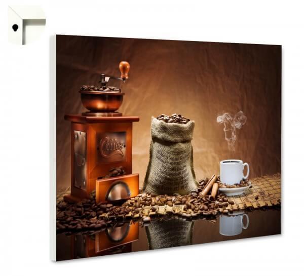 Magnettafel Pinnwand mit Motiv Küche Kaffee Mühle Bohnen