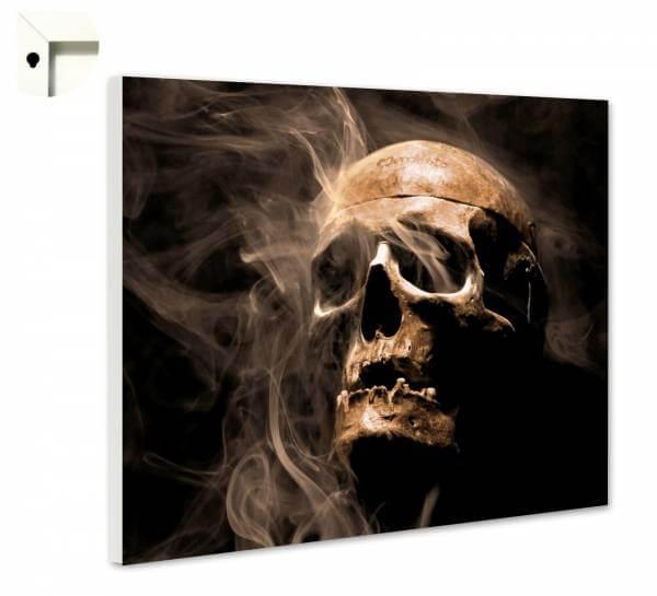Magnettafel Pinnwand Gothic Totenkopf im Rauch