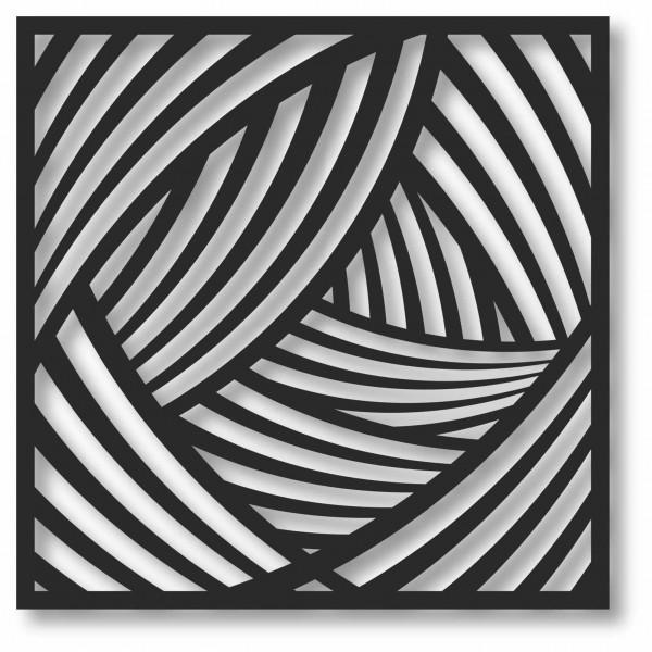 Bild Wandbild 3D Wandtattoo Acryl Mobile Linien Abstrakt Muster Wellen