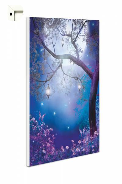 Magnettafel Pinnwand Fantasy Mondlandschaft in lila