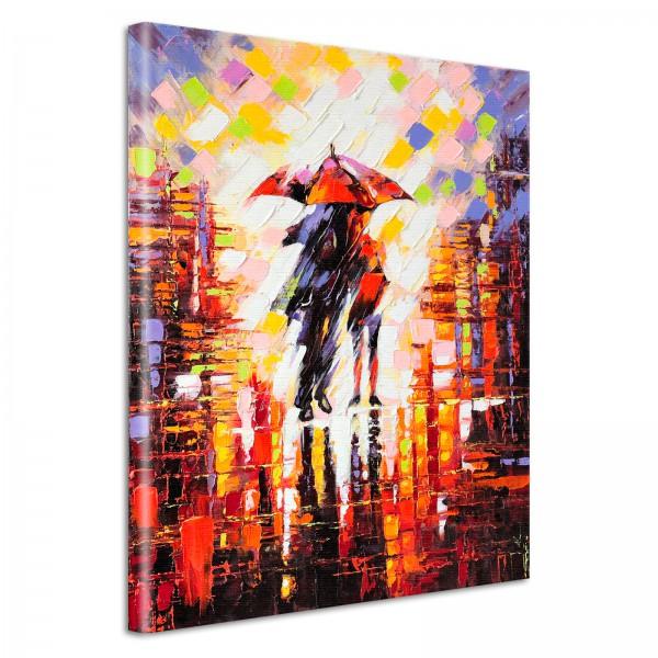 Leinwandbild Gemälde Regen