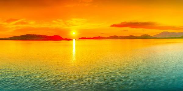 Magnettafel Pinnwand Bild XXL Panorama Strand Sonnenuntergang