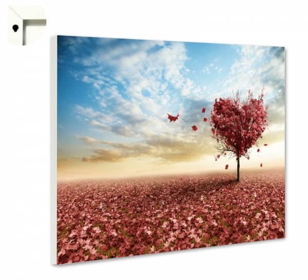 Magnettafel Pinnwand Blumen Natur Herzbaum