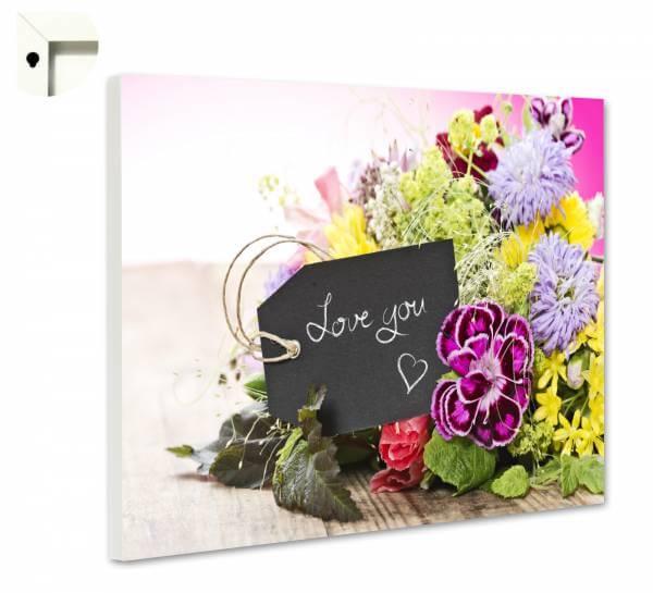 Magnettafel Pinnwand mit Motiv Liebe Love You 2