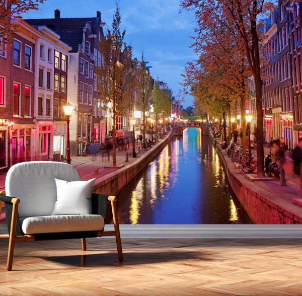 Vlies Tapete XXL Poster Fototapete Holland Amsterdam Kanal