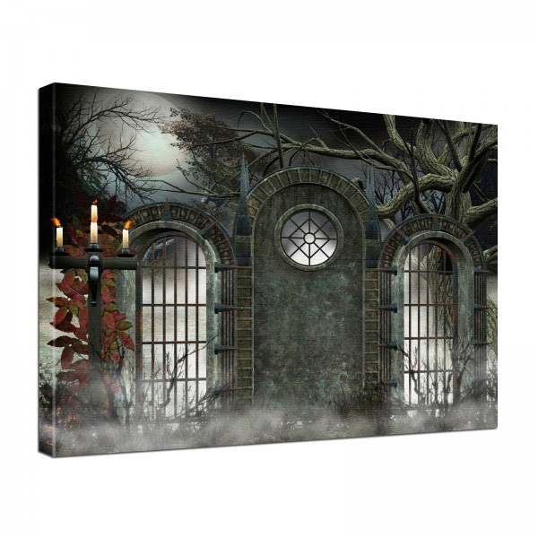 Leinwandbild Gothic Torwacht