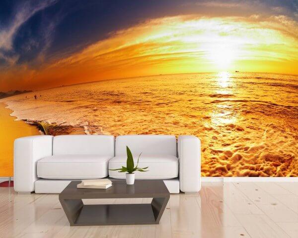 Vlies XXL-Poster Tapete Fototapete Natur Sonnenuntergang am Strand