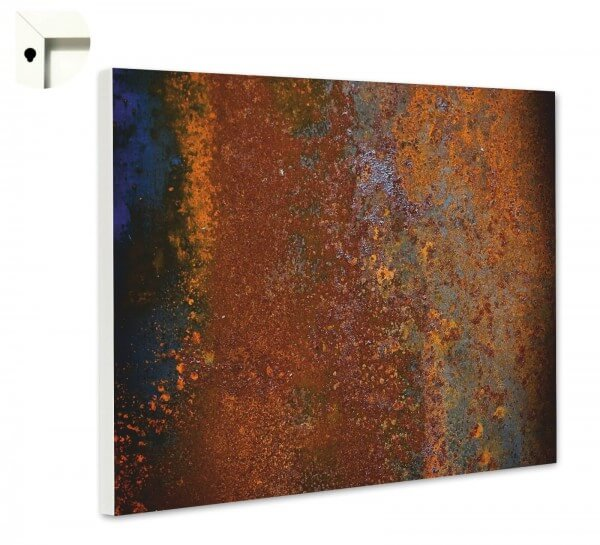 Magnettafel Pinnwand Muster Metall Rost alt