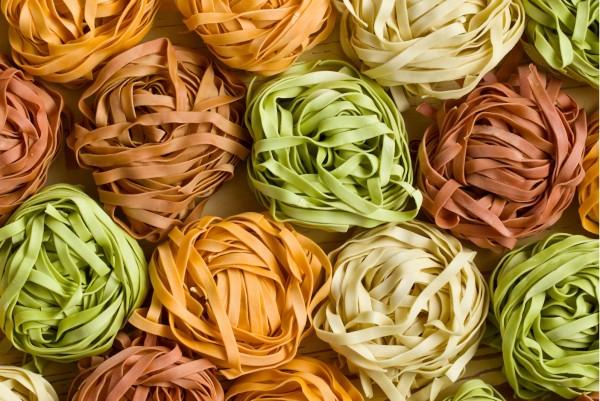 Magnettafel Pinnwand XXL Bild Küche Nudeln Pasta bunt