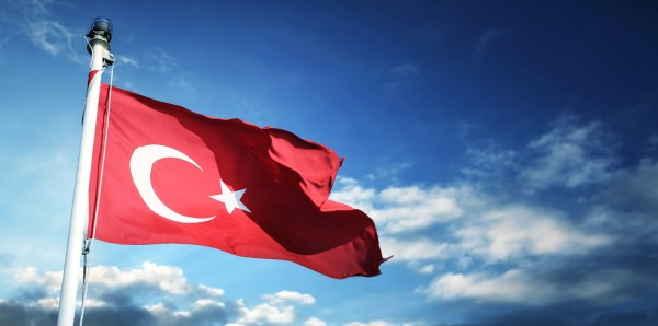 Magnettafel Pinnwand Bild XXL Panorama Türkei Flagge Fahne