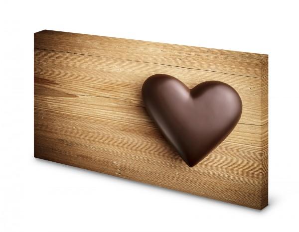 Magnettafel Pinnwand Bild Schokolade Herz Holz gekantet XXL