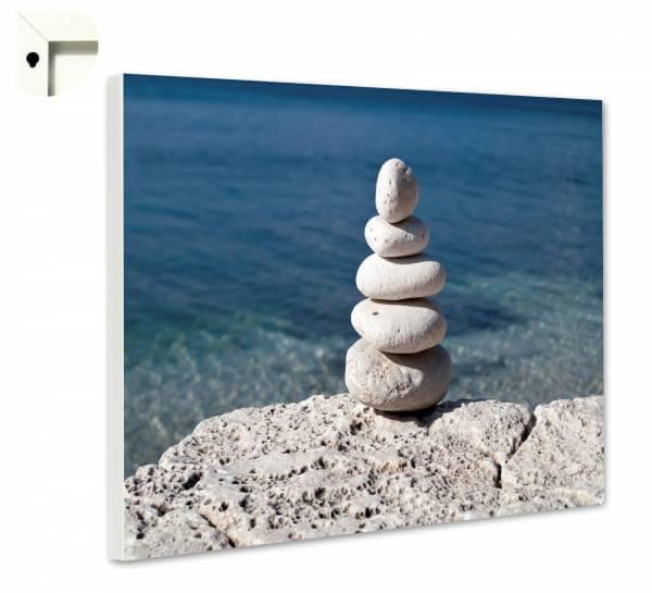 Magnettafel Pinnwand Natur Meditation Steinbalance