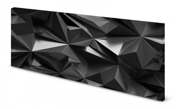 Magnettafel Pinnwand Bild 3D Effekt Zacken Anthrazit gekantet