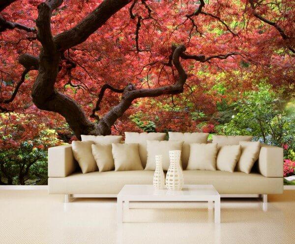 Vlies XXL-Poster Tapete Fototapete Natur Japanischer Garten 2