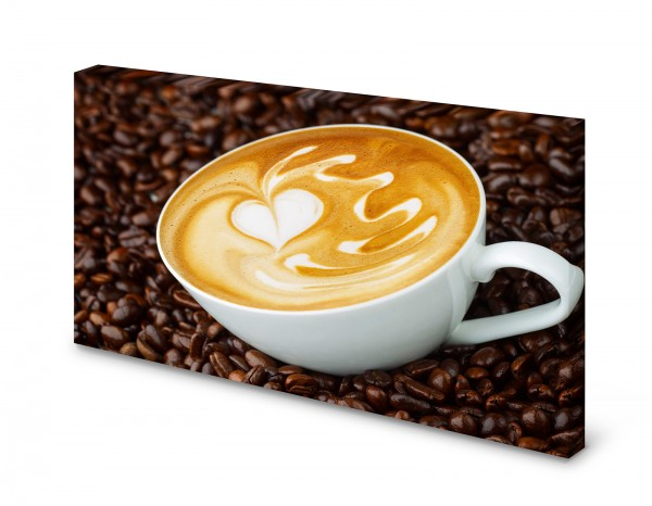 Magnettafel Pinnwand Bild Cappuccino Milchkaffee gekantet XXL