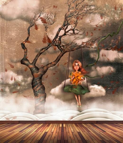 Vlies Tapete Poster Fototapete Fantasy Emo Vintage Herz Leid