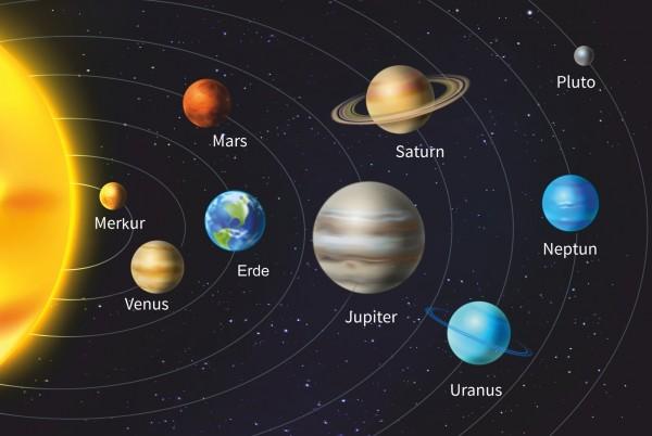 Magnettafel Pinnwand Weltall Planeten Sonnensystem All