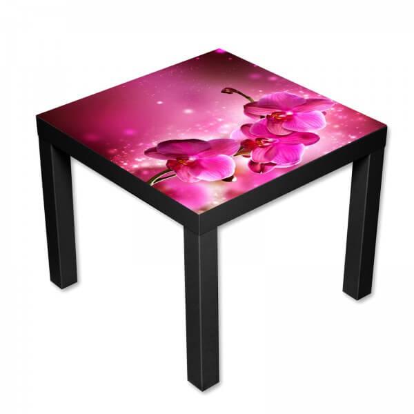 Beistelltisch Couchtisch mit Motiv Orchideenzweig in pink