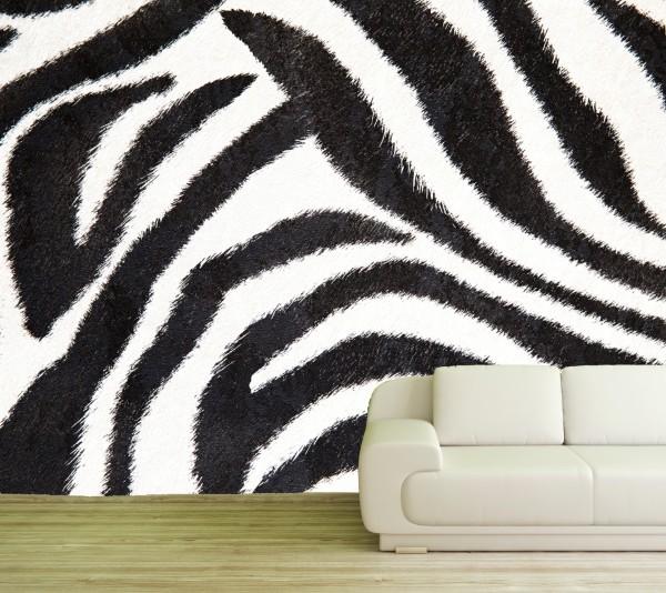 Vlies Tapete Poster XXL Fototapete Zebra Fell Streifen