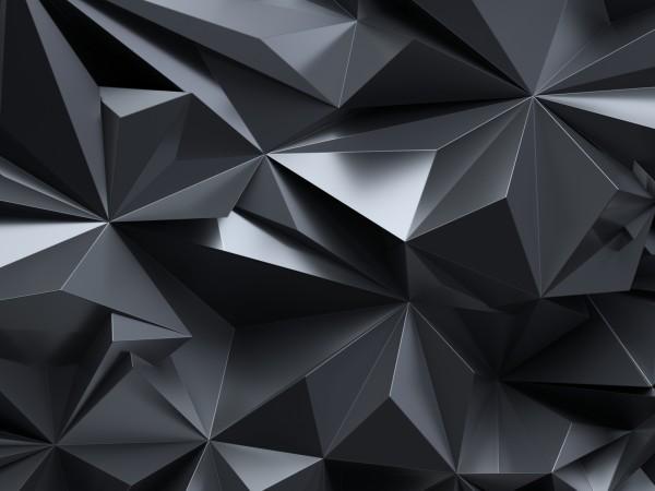 Vlies Tapete Poster XXL Fototapete 3D Effekt Zacken Dreiecke anthrazit