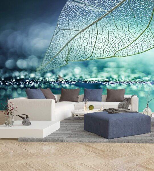 Vlies Tapete Poster Fototapete Aqua Türkis Marine Blau