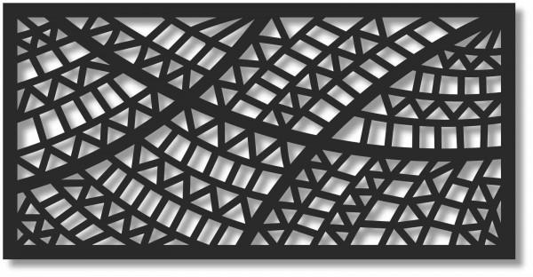 Bild Wandbild 3D Acryl Mobile Muster Zacken Wellen Abstrakt