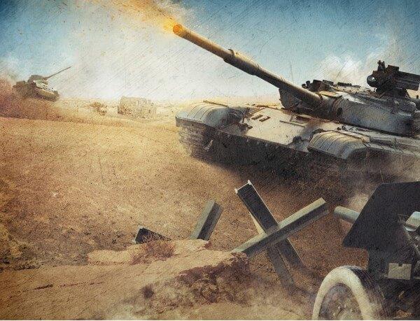 Poster Fototapete Panzer