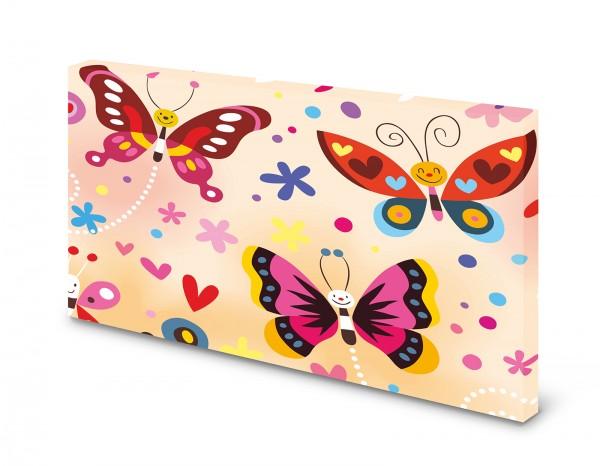 Magnettafel Pinnwand Bild Schmetterlinge bunt XXL gekantet